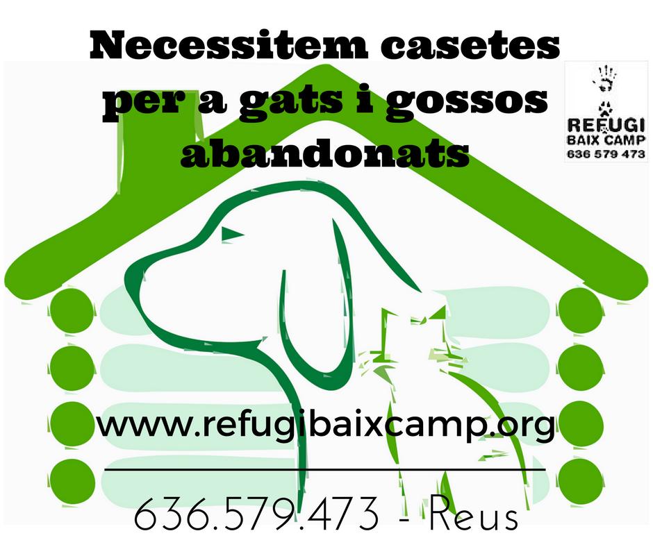 Necessitem Casetes Per A Gats I Gossos Abandonats