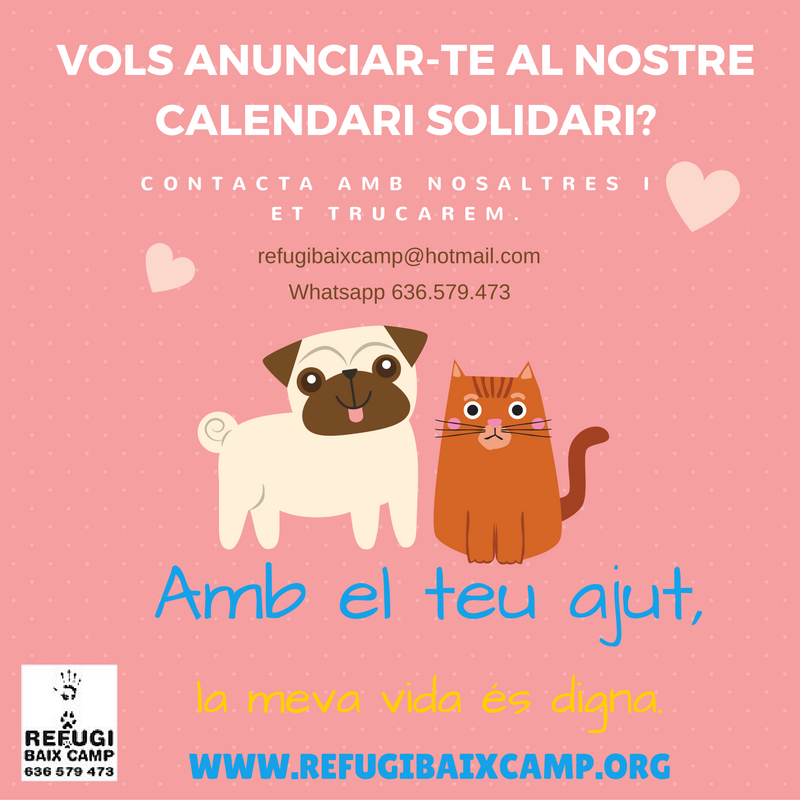 Vols Anunciar-te Al Nostre Calendari Solidari 2017?