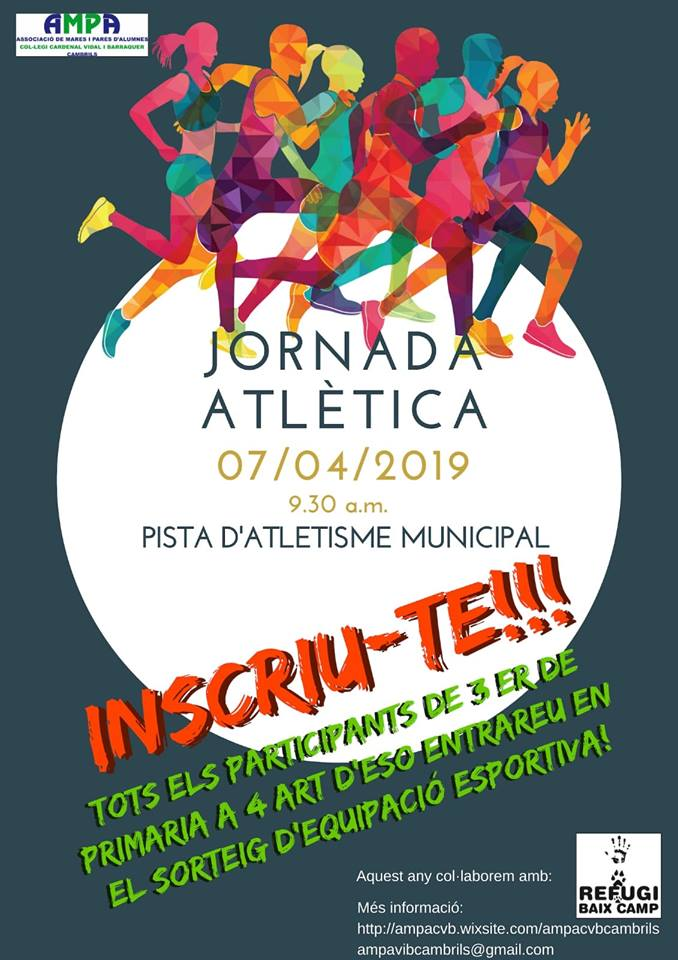 Jornada Atlética!! Inscriu-te!!! Cambrils