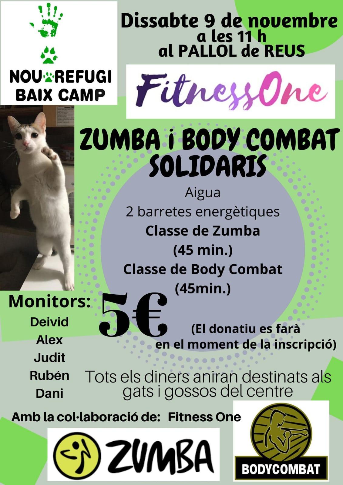 Zumba Y Body Combat Solidarios – FITNESSONE